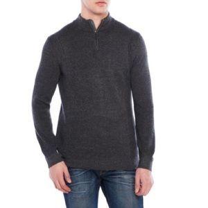 Ted Baker London Gray Quarter-Zip Sweater